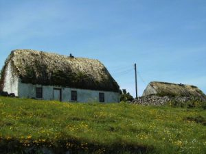 Thatched Cottages on Aran Islands Inishmor