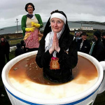 Father Ted Fest - nun in coffee cup