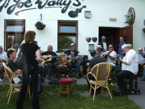 Traditional Irish music session Aran Island