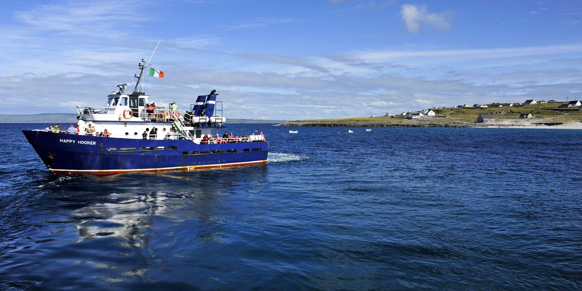 Happy Hooker off Inis Oirr Island Doolin Ferry